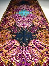 """NEW Etro feather weight all season collection WOOL SILK  scarf shawl 53x17"""",blue"""