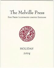 2004 Melville Press Fine Press Illustrated Limited Editions Holiday Folder