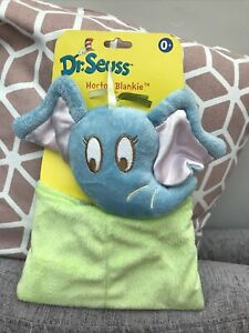 Manhattan Dr. Seuss Horton Elephant Comforter Soft Toy Blankie Blanket Green Dou