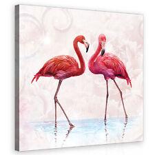 CANVAS Wandbild Leinwandbild Bild Flamingo Vogel Tier Design Rosa  3FX10199O5