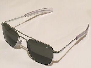 52mm Silver Frames American Optical AO Pilot Sunglasses