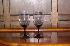 """2 X Black Crystal è nato bicchieri da vino Calici Acqua 7.25"""""""