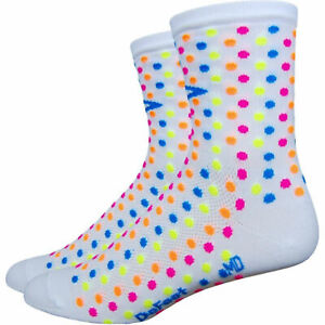 DeFeet Aireator Spotty White Large Cycling Socks