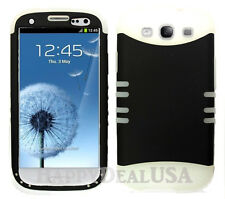 KoolKase Hybrid Silicone Cover Case for Samsung Galaxy S3 i9300 - Black (R)