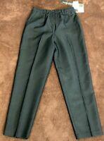 NEW VTG Women's Components Petites Black Striped Career Pants Size 8P