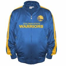 e810630ecec Big   Tall NBA Majestic Tricot Jacket WARRIORS Blue Yellow Mens 3XL  60