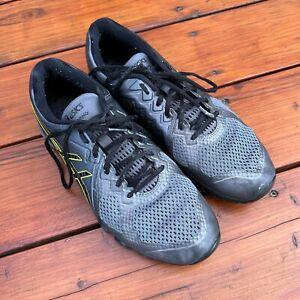 Asics Size 9.4 Men's Gray & Green Conviction X Training Sneakers RynoSkin Tech