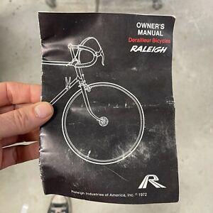Raleigh Bicycle Owners Manual – Vintage 1972