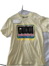 Gucci Love-print sequinned T-shirt Size L ( I love Oversized Tshirts )