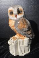 105/33 Italian Majolica Owl On Perch