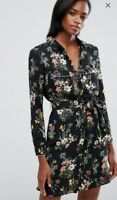 Oasis Floral Shirt Dress Size 6