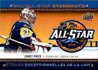 2018-19 Upper Deck Tim Hortons NHL All Star Standouts Carey Price #AS-5
