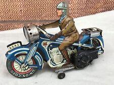 RARE Vintage Antico LATTA ARNOLD GERMANIA per MOTO Orologio lavoro Wind Up litografia