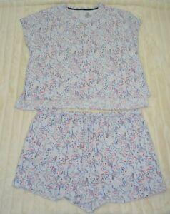 Secret Treasures Comfy Two piece shirt/shorts Flamingo Print Pajama set sz 2X