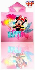 Minnie Mouse Hooded Towel,Poncho Beach Towel,Bath Towel,Official Licensed