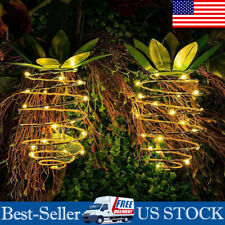 LED Solar Pineapple Lantern Wire Lights Outdoor Garden Waterproof Hanging Lamp