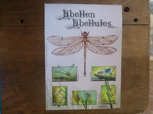 BELGIUM 2018 INSECTS- DRAGONFLIES 5 STAMP MINI SHEET MINT STAMPS