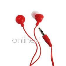 Auricular Fruit Rojo para Mp4, Mp3, Movil, Tablet, Portatil  a354