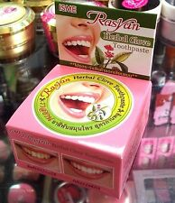 RASYAN ISME HERBAL CLOVE TOOTHPASTE WHITENING TEETH ANTI BACTERIA 25g UK