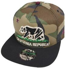 New Era California Republic Grey Black Red Snapback Cap 9fifty 950 Limited