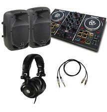 IMPIANTO DJ kit impianto coppia casse attive console Numark cuffie Hercules