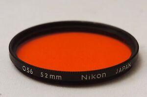 @ Ship in 24 Hrs! @ Nikon O56 Orange 52mm Black Rim Lens Filter