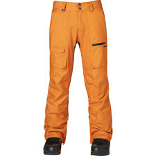 2015 NWT MEN'S QUIKSILVER DARK AND STORMY PANT $180 L pumkin spice brown orange