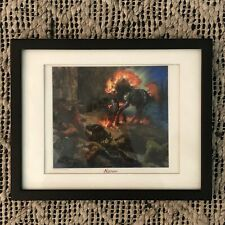 MTG Terese Nielsen SIGNED Print Nightmare Wizards Of The Coast 1995 Magic Cards
