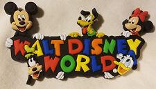 Disney Parks Walt Disney World WDW Mickey & Friends Fridge Magnet PVC - NEW