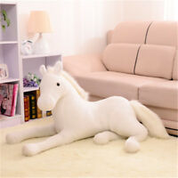 Simulation Animal Horse Plush Toy Stuffed Soft Prone Horse Kids Birthday Gifts #