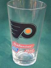 Nice BUDWEISER Philadelphia Flyers HOCKEY NHL Pint Glass(es) Bud Light Bud Ice