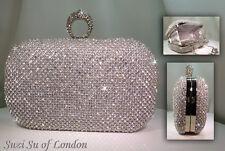 Con incrustaciones de cristal duro caso Finger Ring Clutch Bag - 00024