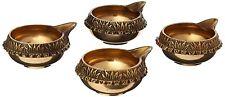 Set of 4 Kuber Deepak Brass Hindu Puja Aarti Diya Laxmi Diwali Temple Oil Lamp