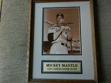 Mickey Mantle Ny Yankee Legend Framed Autographed 8x10 Photo w/Full Jsa Letter