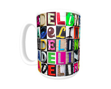 ADELINE Coffee Mug / Cup featuring the name in photos of sign letters