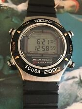 Rare Diver Seiko  Quartz Scuba Water Resistant  200  Metri 5800-0019 -AO Box
