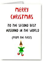Husband Christmas Card - Premium Quality - Funny Joke Cheeky - Gay LGBT Male