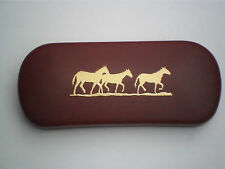 WILD PONY PONIES HORSE WALKING brand new metal glasses case great gift!!