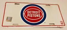 Vintage Detroit Pistons NBA Logo Metal License Plate