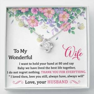 To My Wonderful Wife I Love You Forever Always Necklace Anniversary Gift for Her