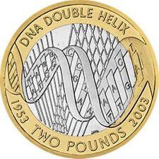 DNA DOPPIA ELICA Discovery 50 anni! RARO £ 2 due Pound Coin Royal Nuovo di zecca Hunt