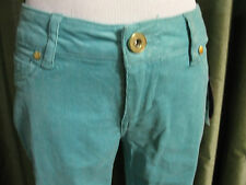 Tinseltown Aqua Sparkle Skinny Leg Metallic Corduroy Pants Bottoms Juniors 1 NWT