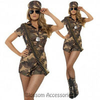 CL198 Army Girl Military FBI Soldier Uniform Top Gun Fancy Dress Up Costume