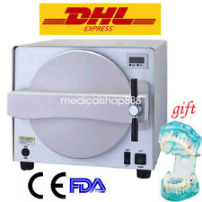 18L Autoclave Medical Steam Sterilizer Dental lab Equipment Pressure safety Use