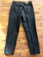 vtg Levi's 540 relaxed fit black denim jeans USA made leather patch 34 x 31