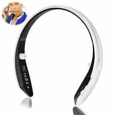 Wireless Sport Headset Neckband Retractable Stereo Headphones Earphones Earbuds