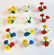 LEGO Pflanzen große farbige Blumen 10 Lego Pflanzen und 10 bunte Blüten