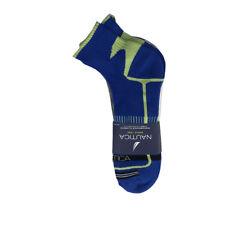 3 Pairs Nautica Mens Ankle Sports Socks 10-13 Shoe Size 6-12 Blue Gray White