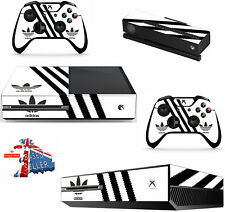 ADIDAS WHITE xbox one skins decals stickers + kinect + 2 controllers game
