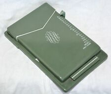 Vintage Zepher Rolodex Autodex Desk Gadget Telephone Index Green Metal USA